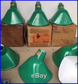 1 Sinclair Quad NOS Porcelain Sign Light Green Industrial Vtg Angle Gas Station