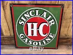 100% Original Porcelain Sinclair Truck Door Sign