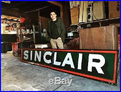 14 Foot Gas Station Sinclair Oil Porcelain Sign. Will Ship, Non Mobil, Texaco