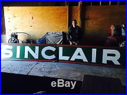 18 Foot Sinclair Porcelain Large Sign, Will Ship, Non Mobil, Texaco, Shell, Gulf