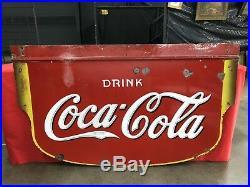 1930's Porcelain Coca-Cola/gas/oil Sign Nashville Tennessee