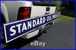 1930's STANDARD OIL PRODUCTS EMBOSSED SELF FRAMED PORCELAIN SIGN GAS STATION