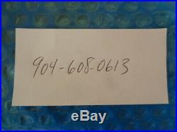1930's Starke FL Gulf Oil 66 Gas Station Porcelain Dealer Sign