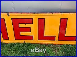 1930s SHELL Gasoline / Motor Oil Service Station Porcelain Sign Gas & Oil