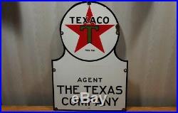 1934 Original Texaco Porcelain Agent sign. The Texas Company