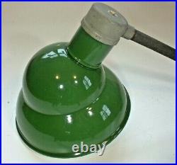 1940's 10 Green Porcelain Sign Light Appleton Industrial Gas Station VTG A