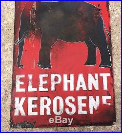 1940's VINTAGE ESSO ELEPHANT KEROSENE PORCELAIN ENAMEL SIGN BOARD