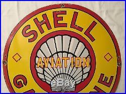 1940's Vintage Porcelain Shell Gasoline Enamel Sign
