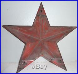 1940's Vintage Porcelain TEXACO STAR Hung At Gas Station 13 inch