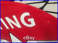 1940s Flying A. Porcelain 42 Inch Sign All Original