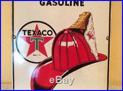 1941 Texaco Porcelain Fire-Chief Gasoline Sign