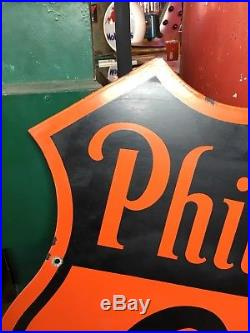 1945 Phillips 66 porcelain sign double sided