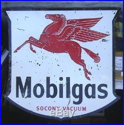 1948 Mobilgas Pegasus Gas Station Sign - 6' double sided porcelain - will ship