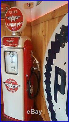1948 National A62 Gas Pump. Pro Resto. Porcelain Pump. Flying A