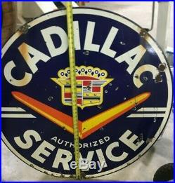 1950 Cadillac Service Dealership Porcelain Sign