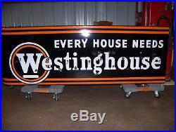 1950's Westinghouse Porcelain Neon Sign for Furniture Store Advertising Gas Oil