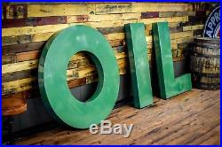 1950s Original Sinclair Oil Porcelain Letters Set Vintage Sign Dealer Advert