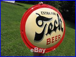 1952 Nos Pittsburgh Brewing Co Tech Beer Sign Not Porcelain Diner Gas Oil