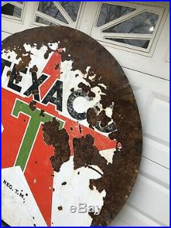 1955 6 Rare Vintage Original Porcelain Advertising Gas Oil Sign Texaco