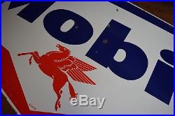 1958 Original Mobil Oil double-sided porcelain pegasus service station sign HUGE