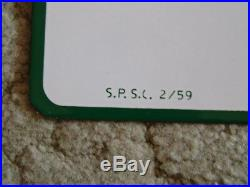 1959 Sinclair Credit Card Double Sided Porcelain Sign New Old Stock