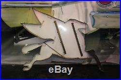 1960s Original Mobil Oil Flying PEGASUS Porcelain Advertising Sign Cookie Cutter
