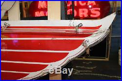 1960s Original Mobil Oil PEGASUS Porcelain Advertising Sign Animated Neon