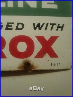 1962 TEXACO Sky Chief Porcelain Vintage Pump Plate Gas Station Sign Antique