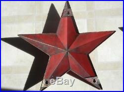 2-Orignal Texaco Service Station Porcelain Stars Gas Station Sign