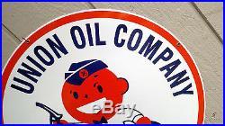 24 Union Oil Co Minuteman Service VC Gas Vintage Concepts Porcelain Sign Oil