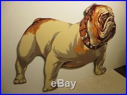 29x41 Rare Antq. 1930 original Mack Truck Bulldog Porcelain Gas & Oil Adv. Sign