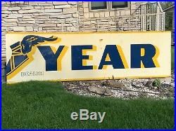 3 Sections Goodyear Foot Gas Station Sign Vintage 10x3