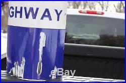 30 Lincoln Highway Road Marker Arrow Curved Corner Porcelain Sign Street 66
