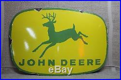 36 John Deere Farm Implement Porcelain Sign Tractor Barn Feed Seed Cow