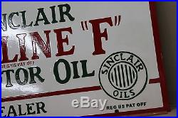 36 Sinclair Opaline F For Fords Porcelain Sign Gas Oil Farm Seed