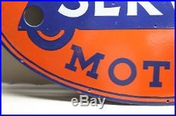 36 UNITED MOTOR SERVICE PORCELAIN NEON SKIN SIGN GAS OIL CAR FARM repair shop