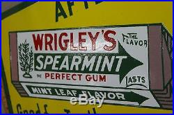 36 Wrigley's Chewing Gum Porcelain Sign Gas Oil Farm Seed Cubs Field