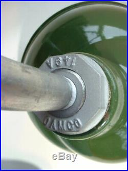 40's 10 Gooseneck Green Porcelain Sign Light Industrial Gas Station VTG OAMCO