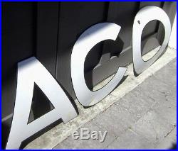 41 TEXACO 16 letters SIGN - 1941 curved porcelain Tanker Truck sign - RARE
