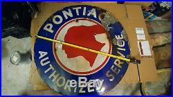 42 Porcelain Pontiac Authorized Service sign