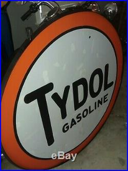 42 Tydol Porcelain Sign- Real Deal Original