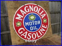 42 authentic DSP org. 1930 Magnolia VERIBRITE SIGN Gas & Oil Co Porcelain Sign