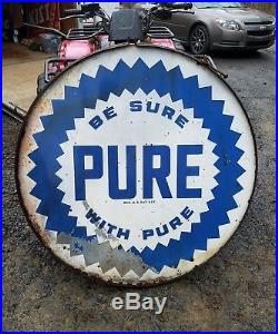 42in Pure Sign in the ring. Porcelain. Double sided