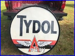 48 Tydol Porcelain Sign- Real Deal Original With It's Frame