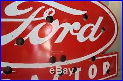 52 Ford Tractor Porcelain Neon Sign Skin Gas Oil Ford Texas Man Cave
