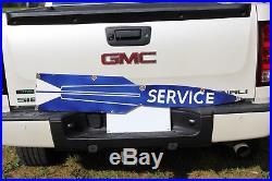 52 Pontiac Cars Service Rocket 2-sided Porcelain Sign Gas Oil Ford Texas Dog