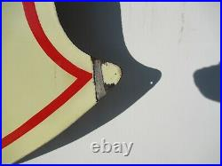 54x54 Org. 1935 DSP Authentic Mint Cond Mobil Gas Socony Vacuum Porcelain Sign