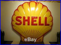 72 Org. 1956 DSP Rare Authentic 6ft. FLYING A SERVICE Gas & Oil Porcelain Sign
