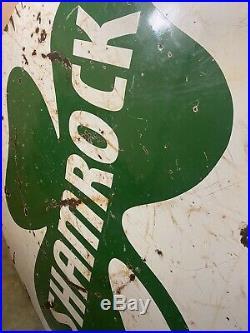 72 super rare authentic original Shamrock Gas Oil Double Sided Porcelain Sign