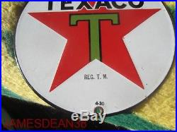 8 Porcelain Texaco Sign Pump Plate Lubester